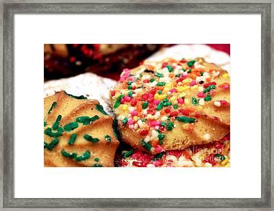 Italian Cookies Framed Print by John Rizzuto
