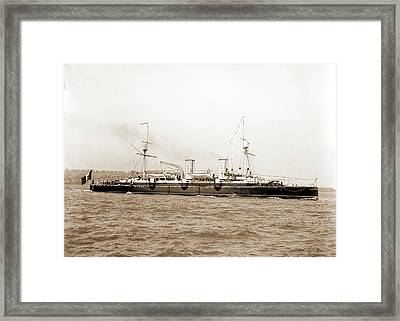 Italian Cruiser Giovanni Bausan, Giovanni Bausan Ship Framed Print by Litz Collection