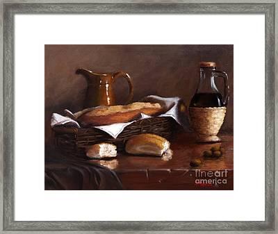 Italian Cuisine Framed Print