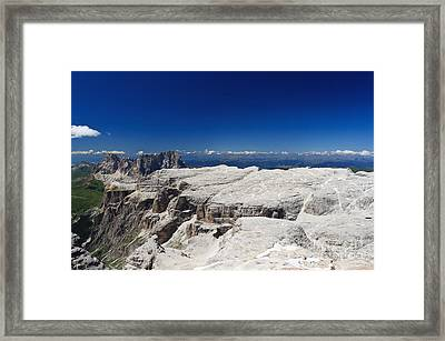 Italian Dolomites - Sella Group Framed Print by Antonio Scarpi