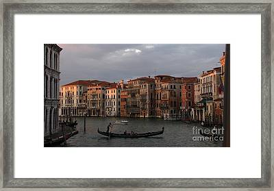 Italian Evening Framed Print by Jennifer Wheatley Wolf