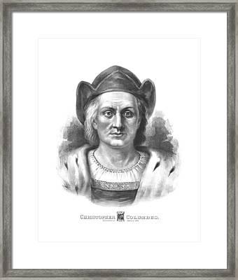 Italian Explorer Christopher Columbus Framed Print by War Is Hell Store