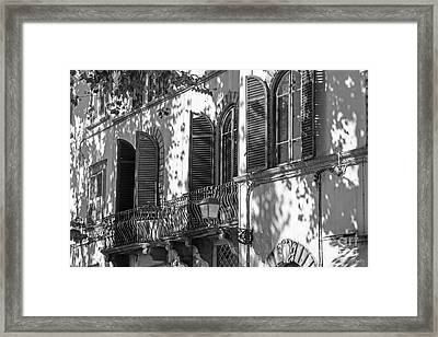Italian Facade In Bw Framed Print