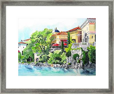 Framed Print featuring the painting Italian Fantasy by Tom Riggs