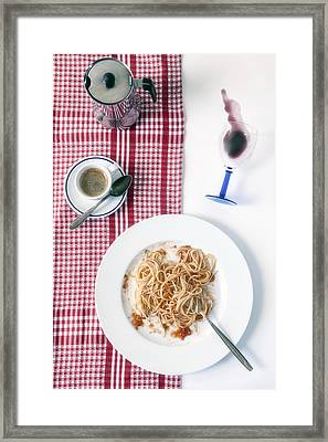 Italian Food Framed Print by Joana Kruse