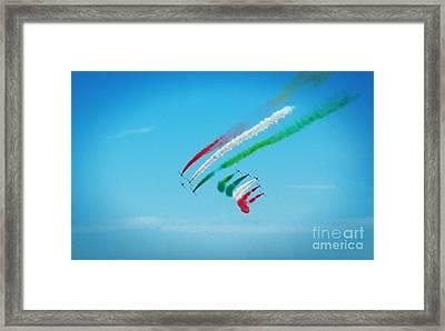 Italian Frecce Tricolori Aerobatics Team Framed Print by Stefano Senise