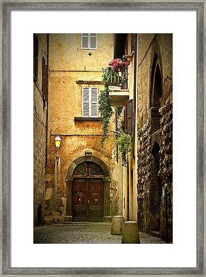 Italian Front Door Framed Print