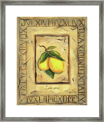 Italian Fruit Lemons Framed Print by Marilyn Dunlap