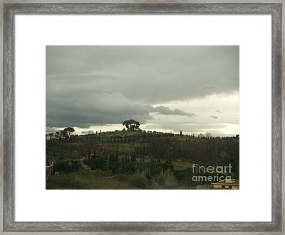 Framed Print featuring the photograph Italian Hillside by Robin Maria Pedrero