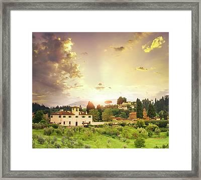 Italian  Landscape Framed Print by Dtokar