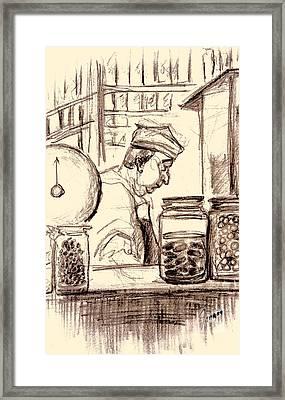 Italian Market Framed Print by Mary Fanning