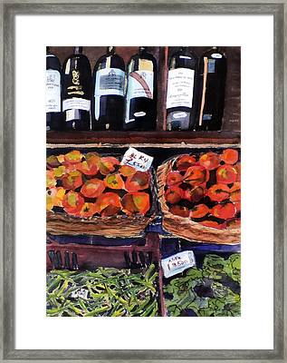 Italian Market Framed Print by Susie Jernigan