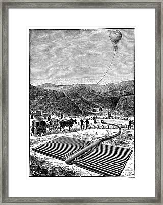 Italian Military Hydrogen Balloon Framed Print