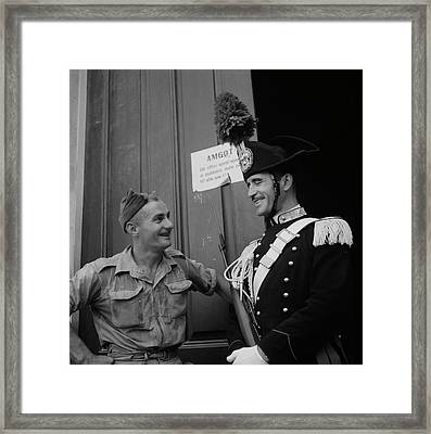 Italian National Police In Full Dress Framed Print by Stocktrek Images