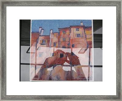 Italian Painting Reflection Framed Print