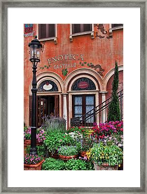 Italian Restaurant Framed Print by Lee Dos Santos
