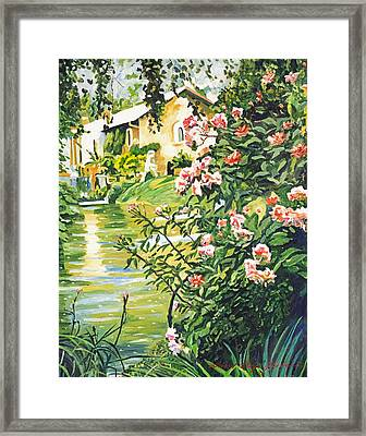 Italian River Framed Print by David Lloyd Glover
