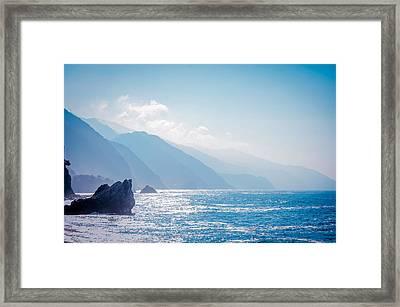 Italian Riviera Coast Framed Print by Mr Doomits
