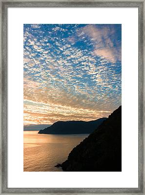 Framed Print featuring the photograph Italian Riviera Sunset - II by Carl Amoth