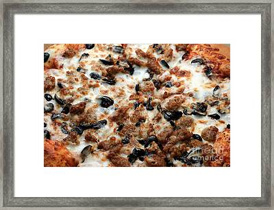 Italian Sausage And Olive Pizza 1 Framed Print