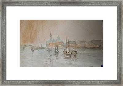 Italian Seaport Framed Print