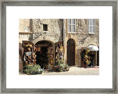 Italian Shops Framed Print by Crow River North Photography