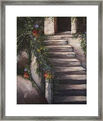 Italian Steps Framed Print