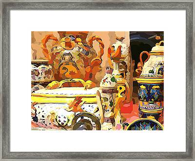 Italian Still Life Framed Print by Mindy Newman