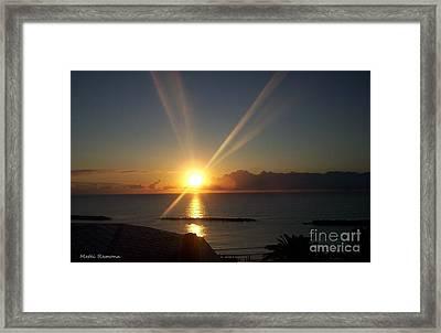 Framed Print featuring the photograph Italian Sunrise by Ramona Matei