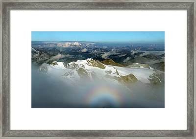 Italian-swiss Alps Framed Print