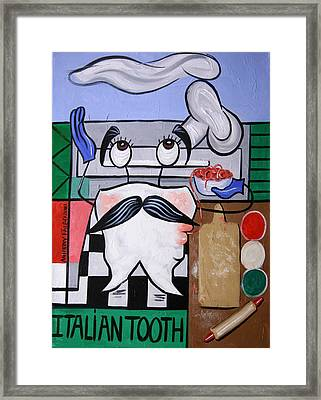 Italian Tooth Framed Print by Anthony Falbo