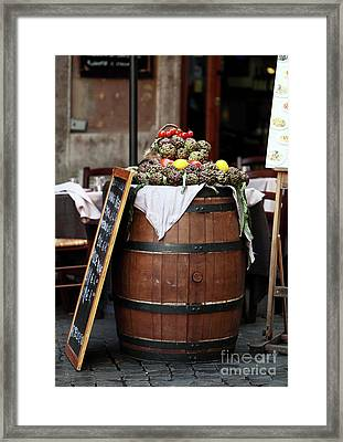 Italian Vegetables Framed Print by John Rizzuto