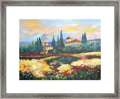 Italian Villa  Framed Print by Anna Sandhu Ray