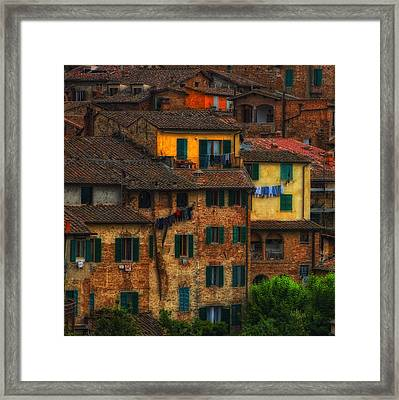 Italian Village View Framed Print