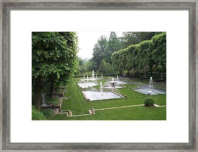 Italian Water Garden Framed Print by Barbara McDevitt
