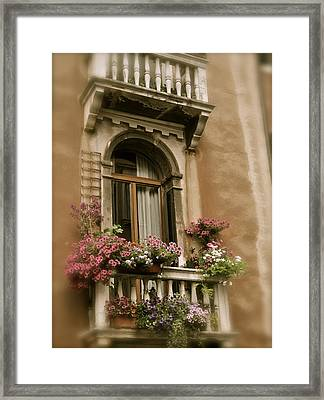 Italian Windowbox 2 Framed Print