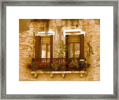 Italian Windowbox 3 Framed Print