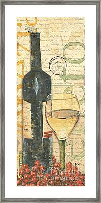 Italian Wine And Grapes 1 Framed Print by Debbie DeWitt