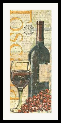 Vintage Red Wine Framed Prints