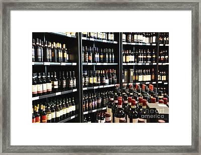 Italian Wines Framed Print