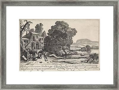Italianate Landscape Afternoon, Jan Van De Velde II Framed Print