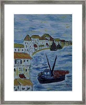 Italien Fishing Town Framed Print