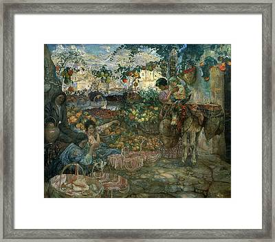 Italy, 1911 Oil On Canvas Framed Print by Isaak Israilevich Brodsky