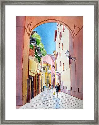 Italy Amalfi Shopping Framed Print