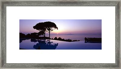 Italy, Campania, Capri, Anacapri, Hotel Framed Print