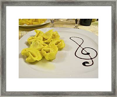 Italy, Cento A Plate Of Cheese Framed Print by Jaynes Gallery