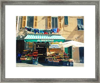 Italy Cinqueterre Store Front Framed Print