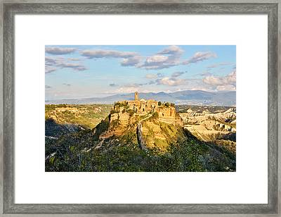 Italy, Civita, A View Of The City Framed Print