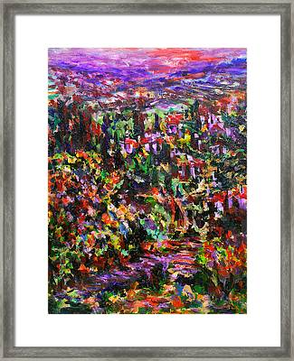 Italy. Evening Framed Print