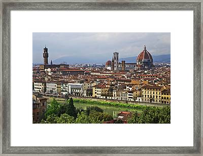 Italy, Florence View Of City As Seen Framed Print